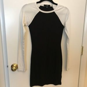 Missguided Ribbed Baseball Style Mini Dress